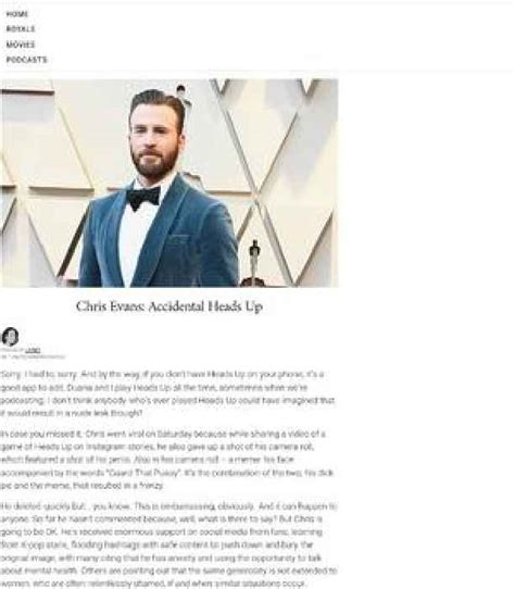 Chris Evans causes online frenzy after - One News Page [Aus]