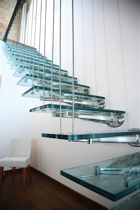 Treppenstufen Aus Glas by Glass And Stainless Steel Open Staircase By Faraone