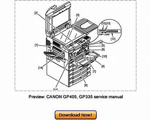 Canon Gp405  Gp400  Gp335  Gp330 Service Repair Manual Download