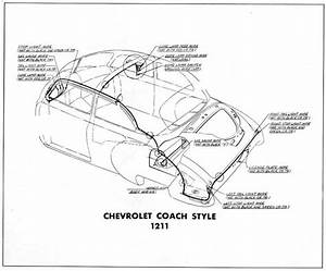 Body Wiring Diagram For The 1949 Chevrolet Coach Style