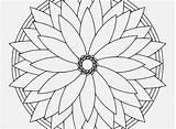 Kaleidoscope Coloring Pages Printable Print Simple Getcolorings sketch template