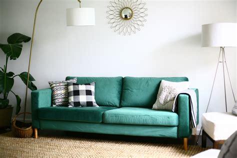 Green Velvet Sofa Ikea Love The Green Velvet Couch Ikea