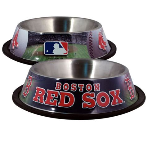 boston red sox dog bowl officially licensed pet gear