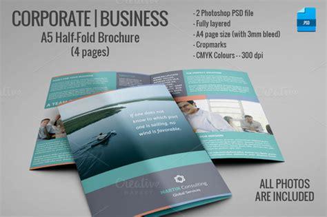 Half Fold Brochure Template by 26 Half Fold Brochures 25 Psd Vector Eps