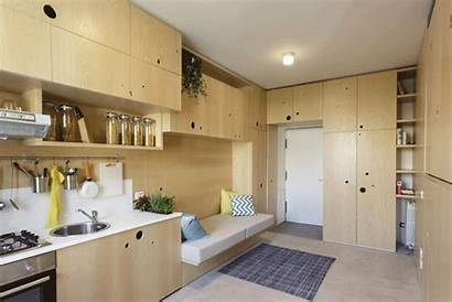 Apartment Space Living Kitchen Creative Tiny Filled