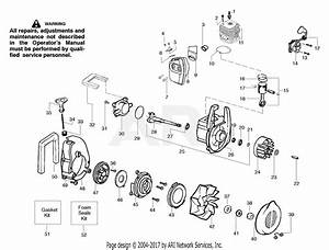 Poulan Wt200 Gas Blower Type 1  Wildthing Wt200 Gas Blower Type 1 Parts Diagram For Engine