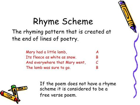 rhyme scheme images google search rhyme scheme