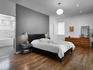 murs et ameublement chambre tout en gris tendance With chambre grise et blanc