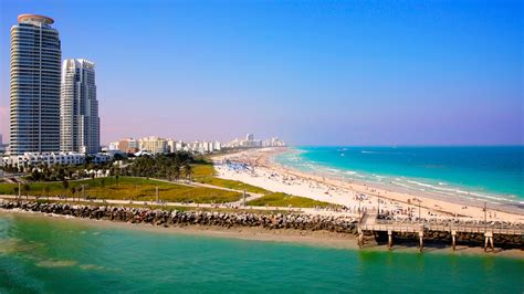To Of Miami by Miami Wallpapers The City Skyline Across The