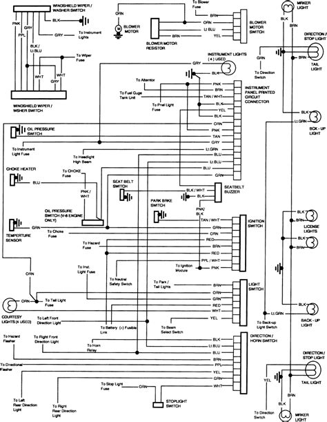 chevy truck wiring diagram  chevy  lights