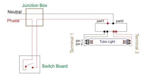 Wiring Diagram For Single Tube Light Circuit Electricalu