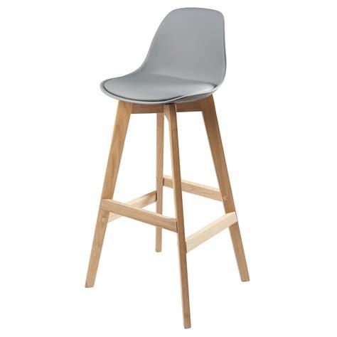 chaise de bar grise chaise de bar scandinave grise maisons du monde