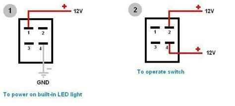 8 Terminal Rocker Switch Wiring Diagram by How To Wire 4 Pin Led Switch 4 Pin Led Switch Wiring