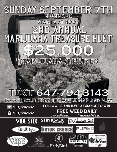 mib bureau marijuana treasure hunt is coming dopechef media