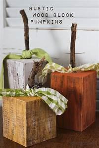 Rustic Wood Pumpkins - Honeybear Lane