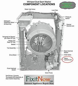 Whirlpool Duet Sport Washer Component Locations