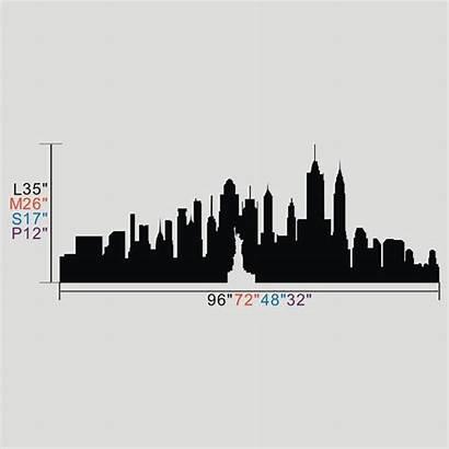 Skyline York Silhouette Wall Apple Custom Clipart