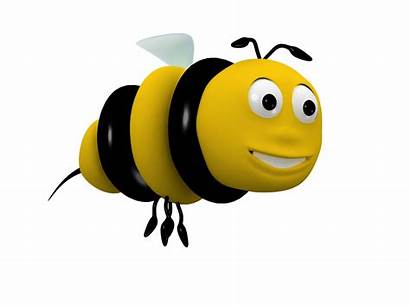 3d Cartoon Bee Character Animated Clip Clipart