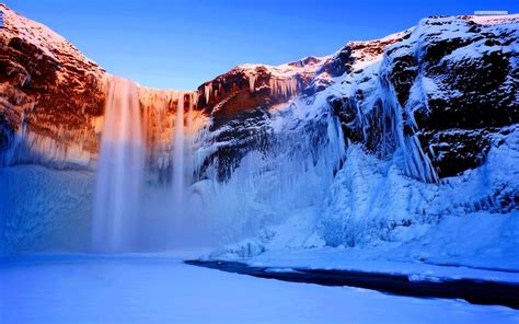winter waterfall wallpaper  wallpapercom