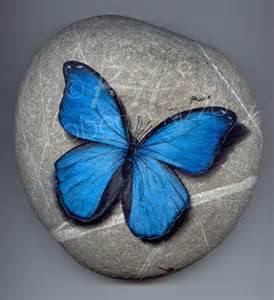 Butterflies Painted On Rocks
