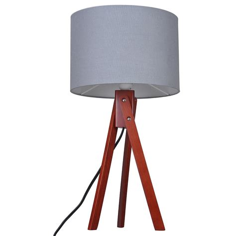bedroom light stand modern tripod table desk floor lamp wood wooden stand home 10527 | 11dsl001 tri09 nut 03
