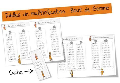 Tables De Multiplication  Bout De Gomme Ce & Cm Cycle 2