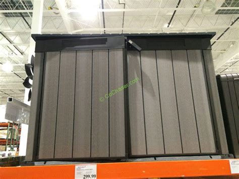 costco storage shed keter horizontal resin shed costcochaser
