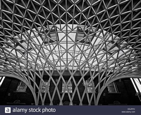 detail of the steel lattice work roof structure engineered by arup royalty free