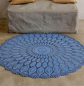 modele tapis en rosace au crochet modeles gratuits With modele de tapis