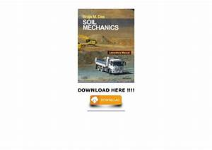 Soil Mechanics Laboratory Manual  Download