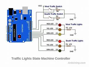 Traffic Light Control Electronic Project Using 4017  U0026 555