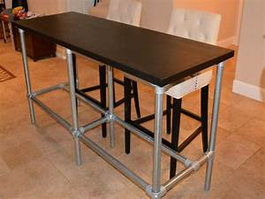 Table Bar But : bar table height diy counter height table with pipe legs diy kitchen island table kitchen ~ Teatrodelosmanantiales.com Idées de Décoration
