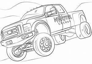 Ausmalbild Monster Energy Monster Truck Ausmalbilder