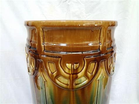 beautiful american art pottery umbrella stand