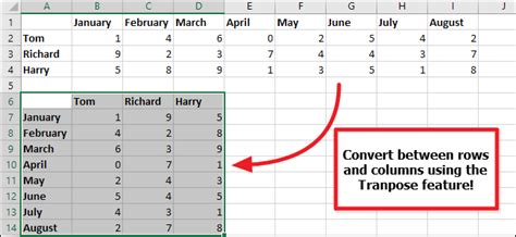 how to convert a row to a column in excel the easy way