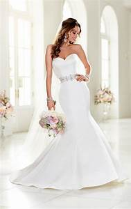 sexy satin trumpet wedding dress stella york wedding dresses With stella york moscato wedding dress