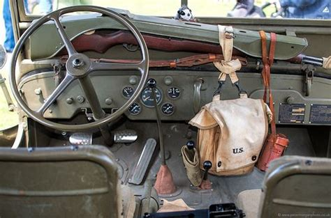 willys mb interior military jeeps pinterest cars