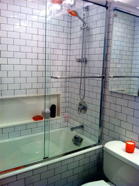 Black and White Subway Tile Bathroom