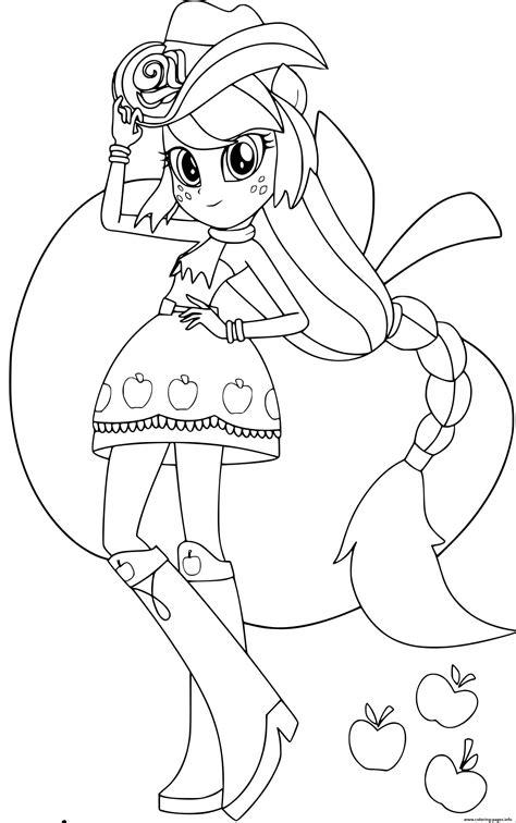 pony equestria girls applejack printables coloring pages printable