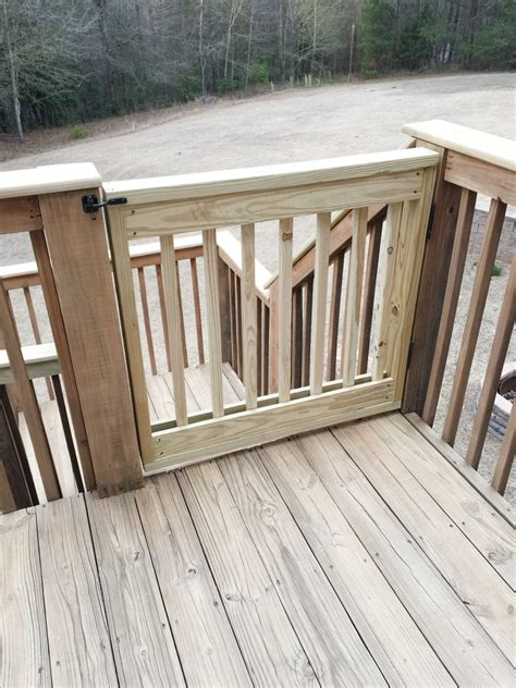 outdoor gate for deck stairs baby gate building bower power 7227