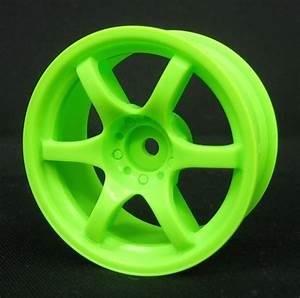 Image Gallery neon green car wheels