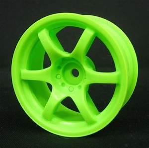 Image Gallery neon green car wheels