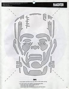 Stencils oct31storg for Frankenstein pumpkin pattern