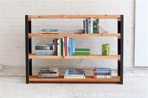 how to make a bookcase homemade modern ep36 ironbound bookcase