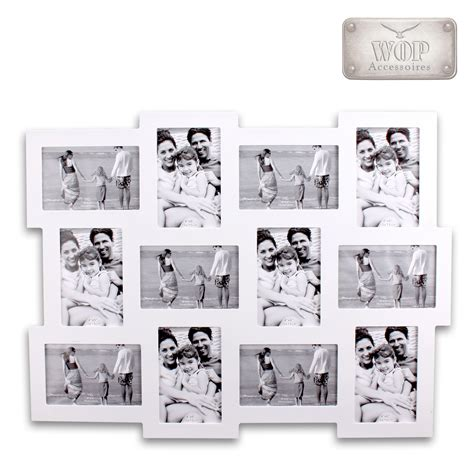 bilderrahmen 12 bilder bilderrahmen collage 12 foto rahmen fotogalerie galerie 10x15 holz weiss schwarz ebay