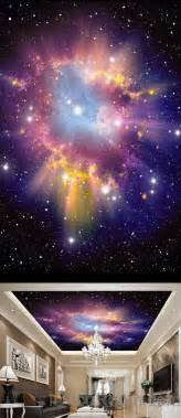 3d Galaxy Wallpaper For Ceiling by 3d Infinity Galaxy Colorful Nebula Ceiling Wall Mural Wall