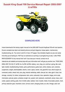 Suzuki King Quad 700 Service Manual Repair 20 By So Hayase