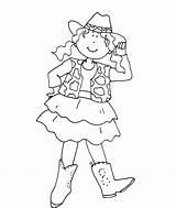 Cowgirl Coloring Pages Cowboy Howdy Cowgirls Hat Drawing Western Printable Print Horse Guitar Getcolorings Getcoloringpages Getdrawings Pag sketch template