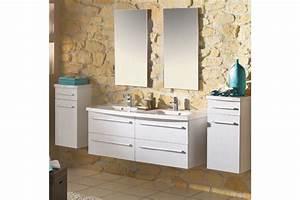 meuble salle de bain suspendu city line 130 double vasque With salle de bain design avec lavabo resine salle de bain