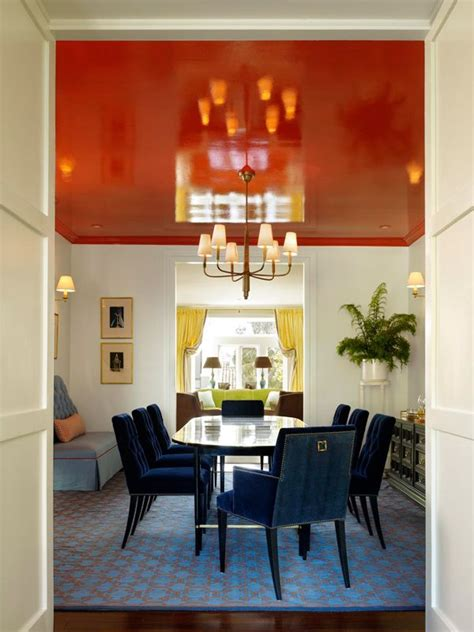 san francisco home  color  pattern dining room